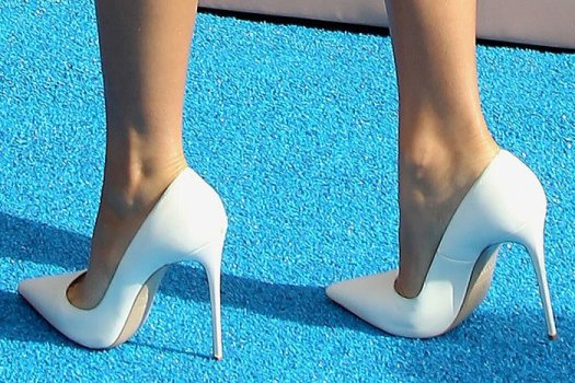 Zendaya's trusty white Le Silla pumps
