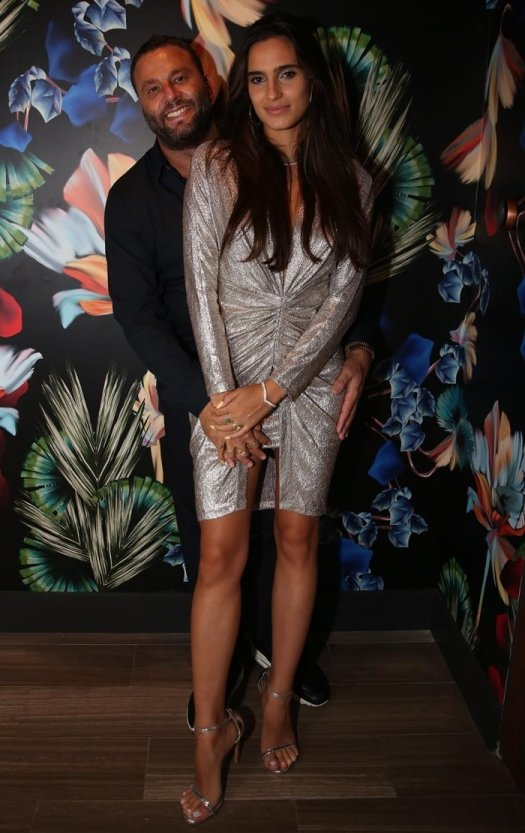 David Grutman with is wife Isabela Rangel attending the Hublot Collectors Dinner in celebration of French's Haute Living Magazine Cover