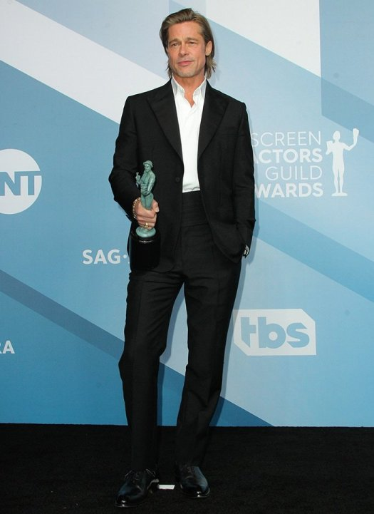 Brad Pitt took home Outstanding Performance by a Male Actor in a Supporting Role at the 26th Annual SAG Awards in Los Angeles on January 19, 2020