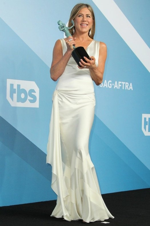 Jennifer Aniston accepted the award for Outstanding Performance by a Female Actor in a Drama Series at the 2020 Screen Actors Guild Awards