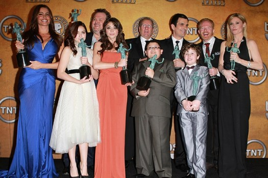 The cast of Modern Family at the 17th Annual SAG Awards on January 30, 2011