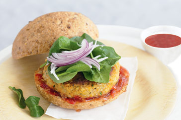 Chickpea Patty Sandwich