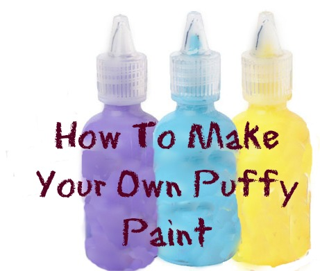 Kids Craft: How To Make Puffy Paint