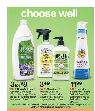 Sale At Target On Natural Cleaning Products Ending June 28th