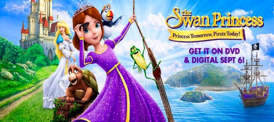 New Giveaway:  The Swan Princess: Princess Tomorrow, Pirate Today DVD Giveaway
