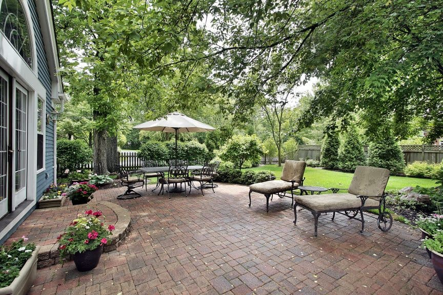 what size patio should you build here