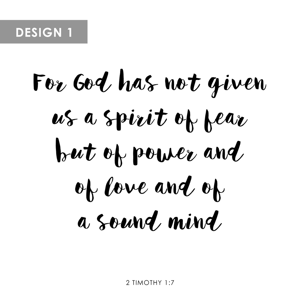 Personalized Canvas (2 Timothy 1:7)