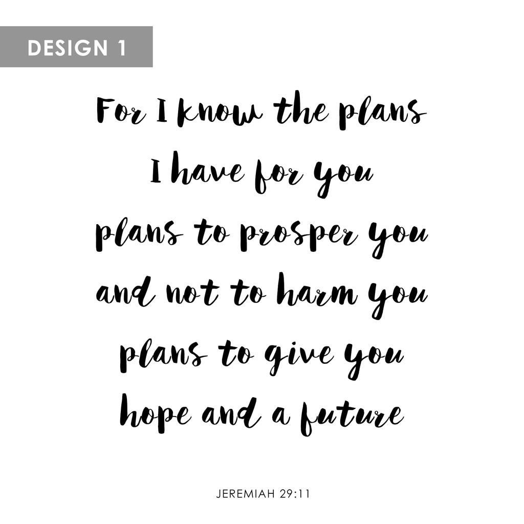 Personalized Canvas (Jeremiah 29:11)