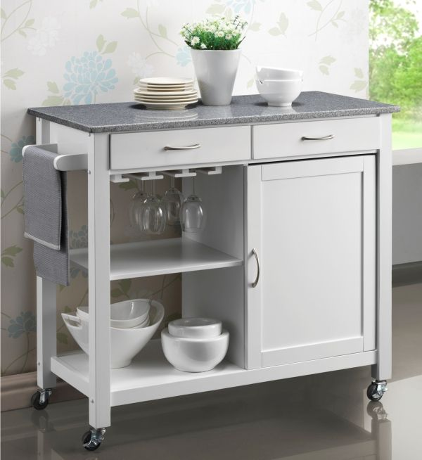 Hardwood White Painted Kitchen Trolleys Half Price Sale Now On At Your Price Furniture