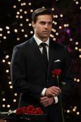 Tim Warmels hands out the first rose on The Bachelor Canada 2 episode 1