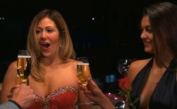 April Brockman and Trish Vergo learn they are on the way to Tahiti with Tim Warmels on The Bachelor Canada episode 7
