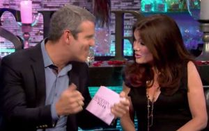 Andy Cohen explains motor boating to Lisa Vanderpump on Vanderpump Rules Season 3 Reunion part 2