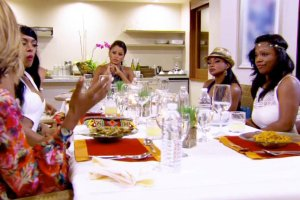 Claudia Jordan hosts a dinner for all the RHOA ladies on Drama Detox