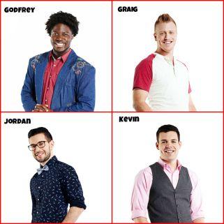 Big Brother Canada 3 cast Godfrey Mangwiza, Graig Merritt, Jordan Parhar, Kevin Martin