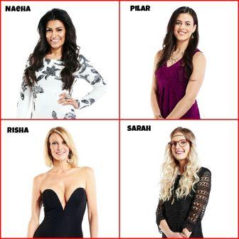 Big Brother Canada 3 cast Naeha Sareem, Pilar Nemer, Risha Denner, Sarah Hanlon