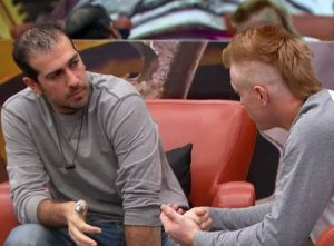 Bruno Ielo calms down Graig Merritt after being put on the block on BBCAN3 episode 8
