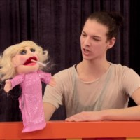 Violet Chachki creates a drag puppet making fun of Katya on RuPaul's Drag Race season 7.