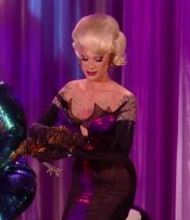 Miss Fame brings along her chicken to RuPaul's Drag Race the finale