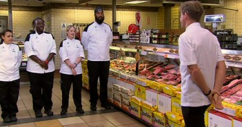 The final 4 chefs have to shop for vegetarian ingredients for their challenge on Hell's Kitchen season 14