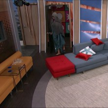 Audrey tries to sneak out of the diary room without being noticed. #BB17