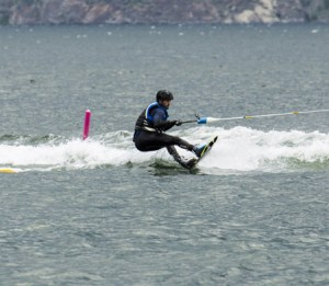 Jesse Montani learns to wakeboard on The Amazing Race Canada 3