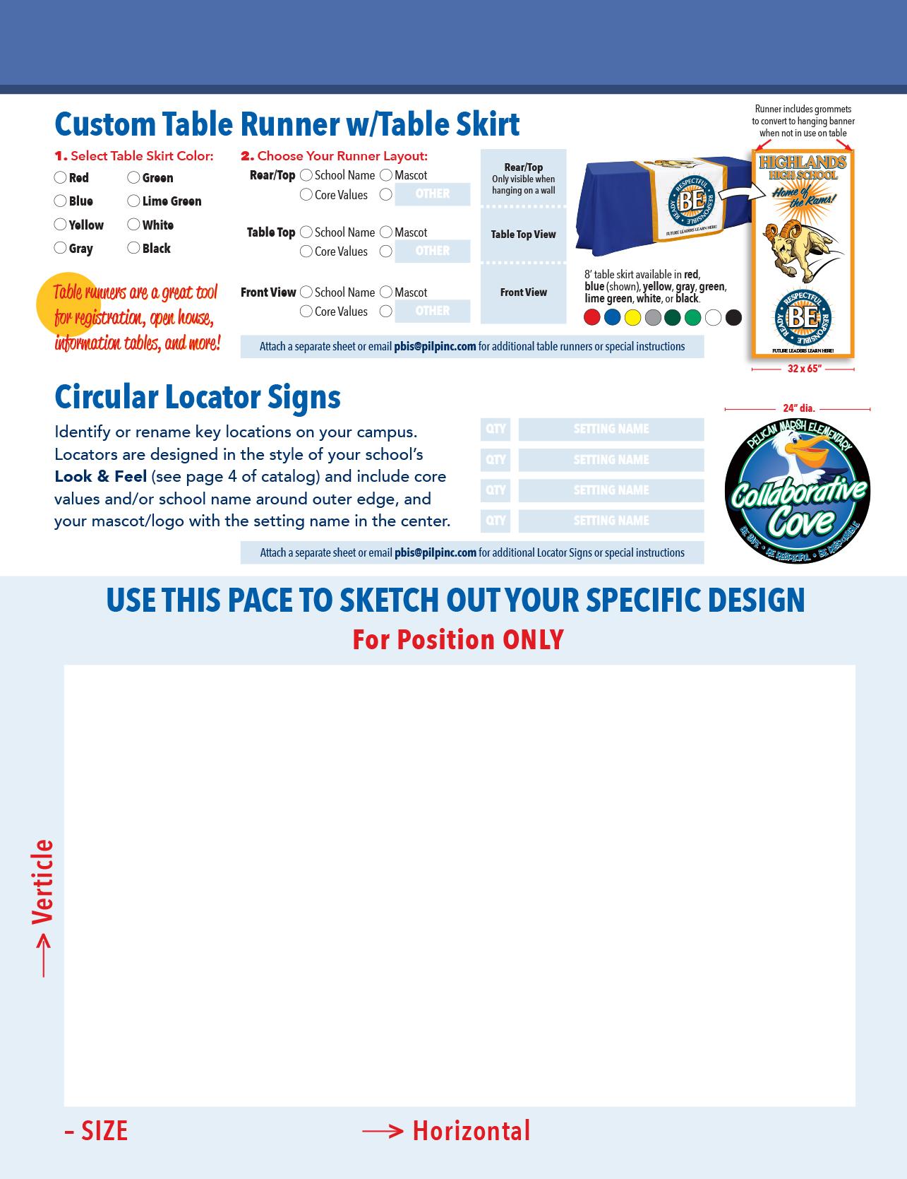 Product Customization Worksheet K12 Branding