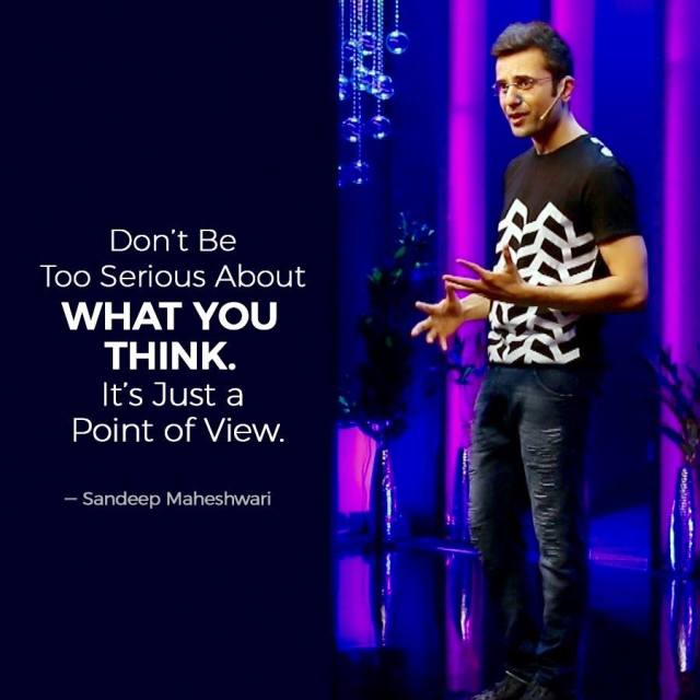 Sandeep Maheshwari Quotes about Point of View