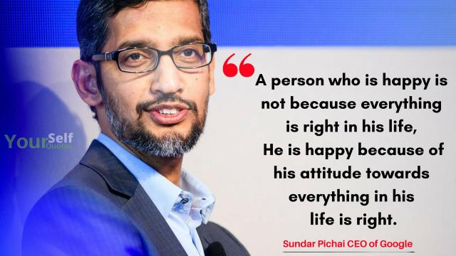 Sundar Pichai Quotes About Life