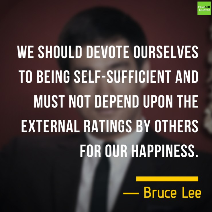 Bruce Lee Quotes on Happiness