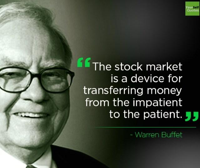 Warren Buffettt Stock Market Quotes