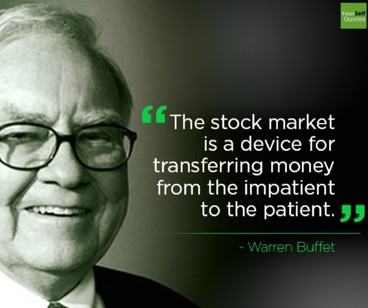 Warren Buffettt Stock Market Quotes