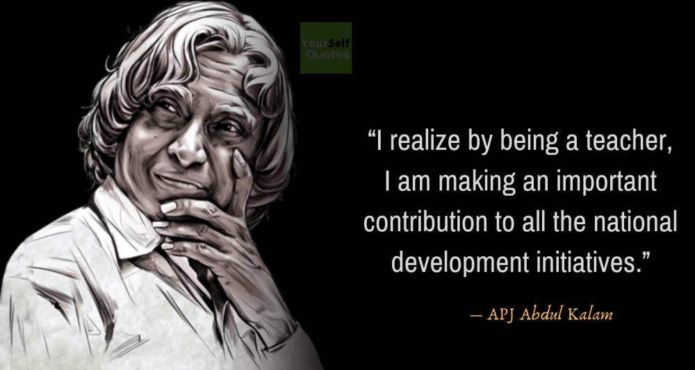 APJ Abdul Kalam Quotes on TeachersDay