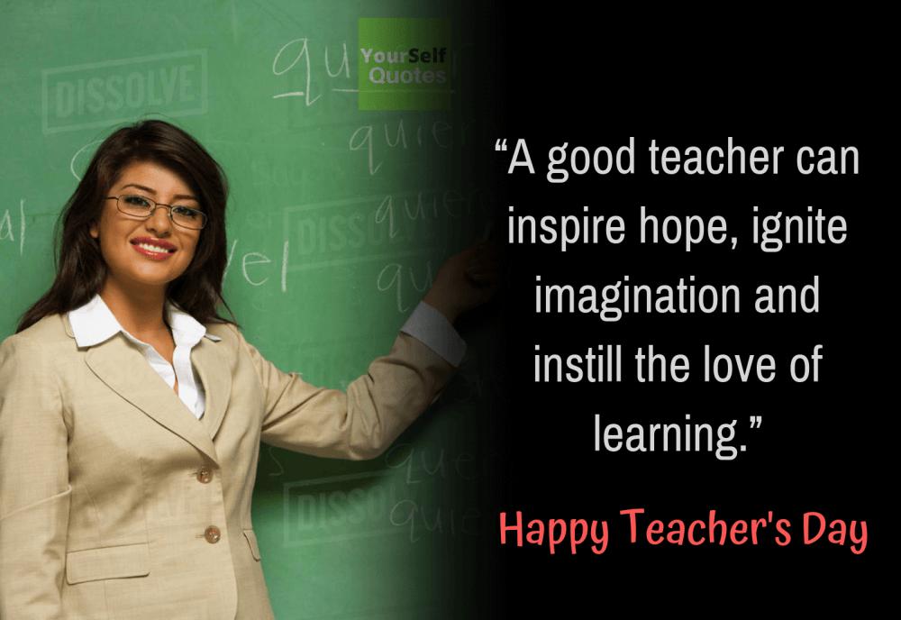 Good Teacher Day Quote