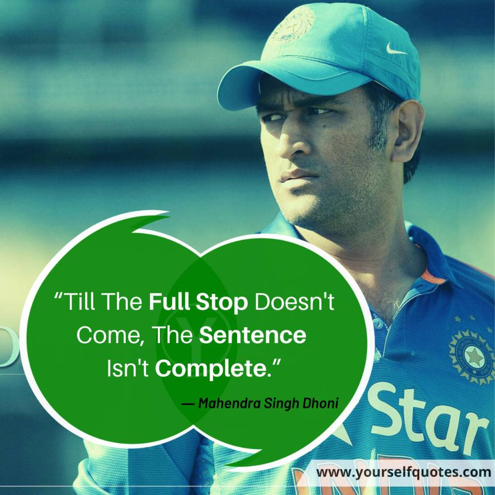 Quotes Dhoni Images