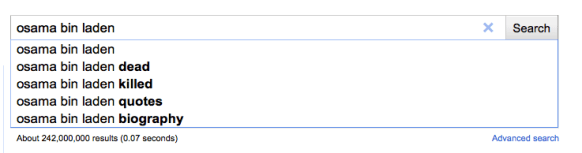 google suggest after