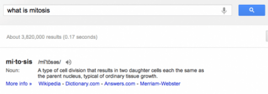 "Google US result for ""what is mitosis"""