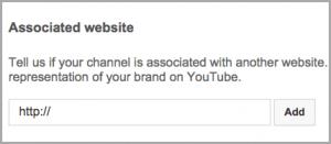 Associated Website button