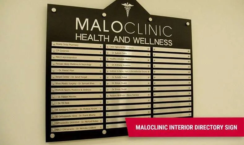 Business Directory Sign - Malo Clinic Rutherford NJ