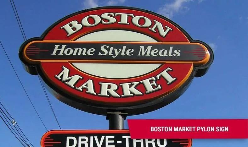 Exterior Business Signs - Boston Market Edison NJ