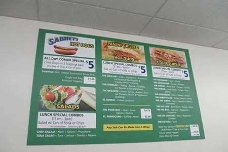 Menu Board Signs in New Jersey and New York City