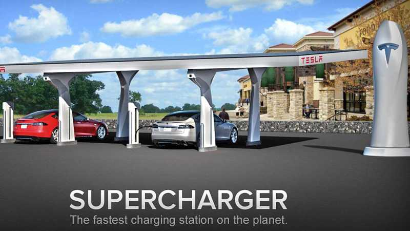 Tesla Supercharging Stations