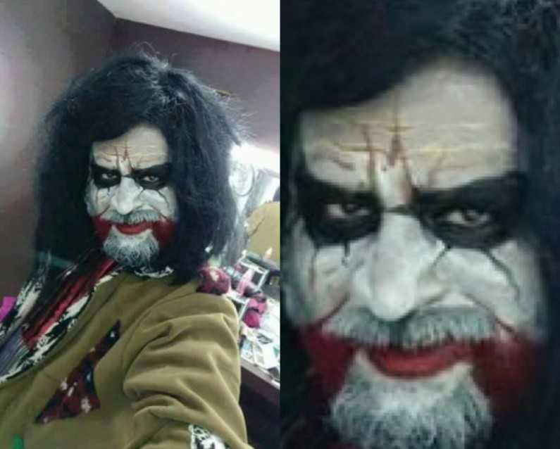 Rajinikanth Joker-Look Profile in his Upcoming Movie Kabali Leaks and Rocks Social Media