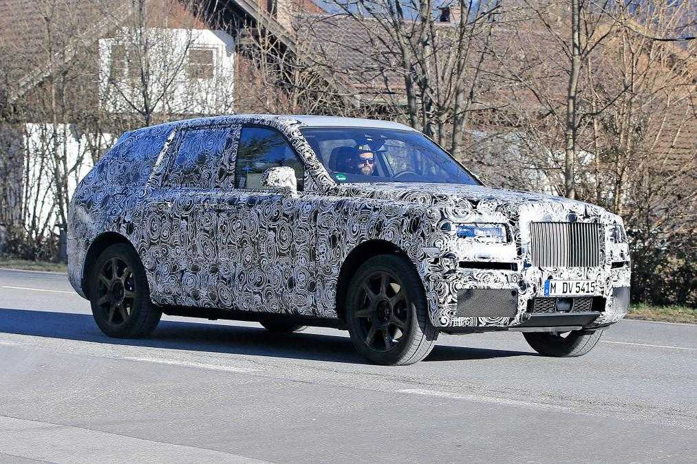 Rolls Royce First SUV Cullinan Gets Spied Testing on the Roads