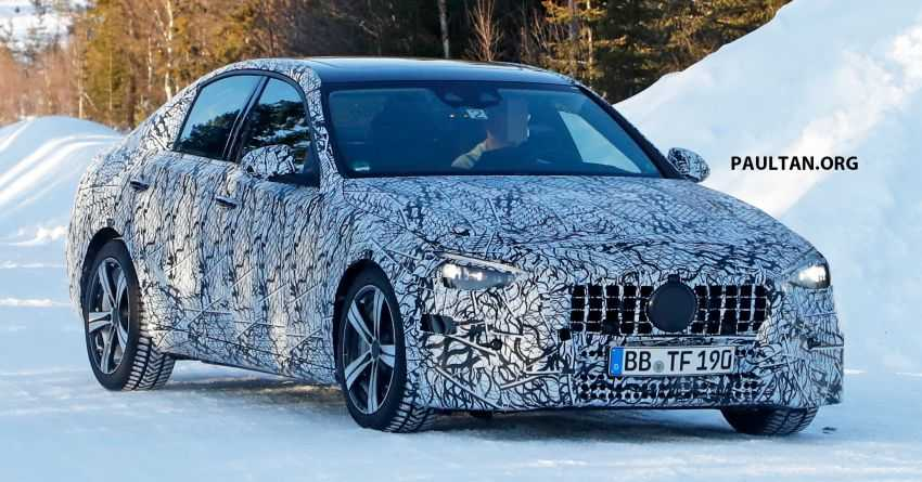 2021 W206 Mercedes Benz C-Class Spotted in New Spy Photos
