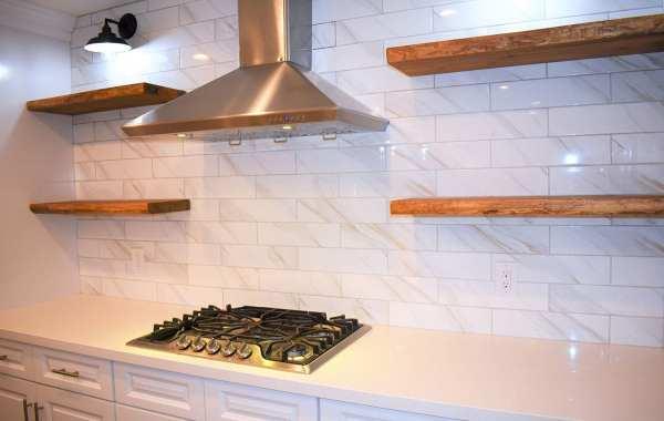 Remodeled kitchen stovetop and range hood