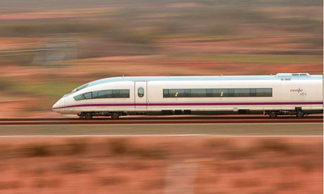 High-speed train Alicante Madrid