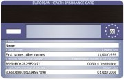 European Health Insurance Card EHIC