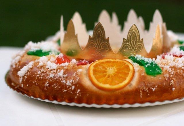 Spanish traditions Roscon de Reyes