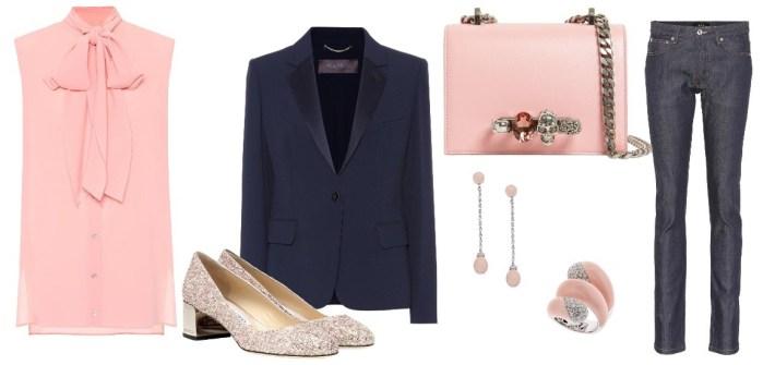 outfit rosa e blu primaverile