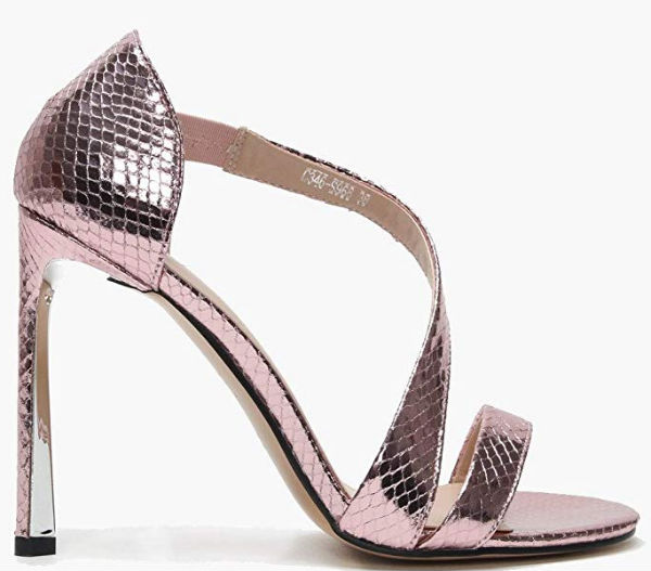 Metallic snake print high heel sandal by Daniel, Euro 50,94